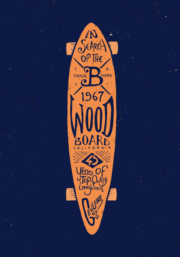 Graphic & hand-lettering boards #skateboard #longboard