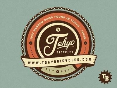 Tokyobicycles_logo #design #graphic #bicycles #tokyo #vintage #logo #typography