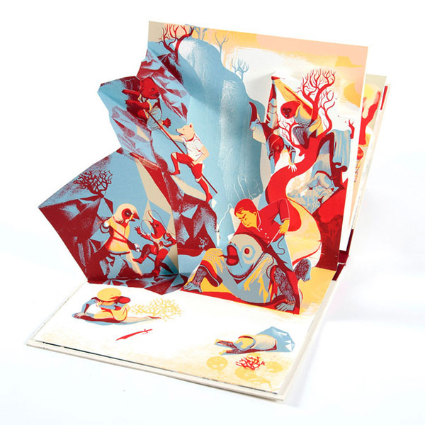 Momotaro #pop #print #book #illustration #up