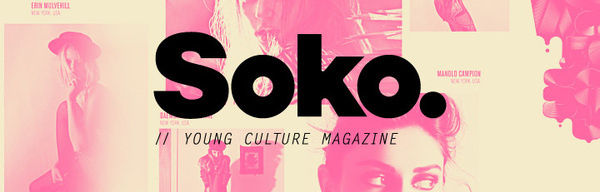 SOKO, POGO, creative co. #soko #design #black #fashion #type #layout