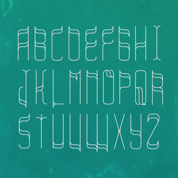 Roundone Font typography