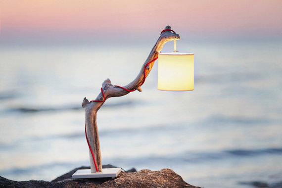 Driftwood Lamp #interior #lamp #design #driftwood #lighting