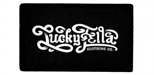 LuckyFella Clothing co. @ Freelance Graphic Designer, Cape Town, South Africa, Logo Designer, Typography, Illustration #lucky #fella #typography