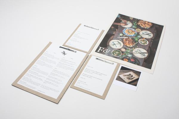 Food& on Behance #binding #branding #menus #restaurant #identity #passport #clipboard