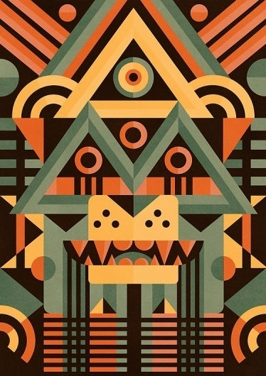 Masks illustration Series - Ben Newman Illustration #inspiration #illustration #design #graphic