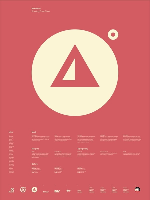 Universal Branding System Poster (Bitsland) #inspiration #creative #information #branding #icon #design #graphic #grid #system #poster #logo #typography