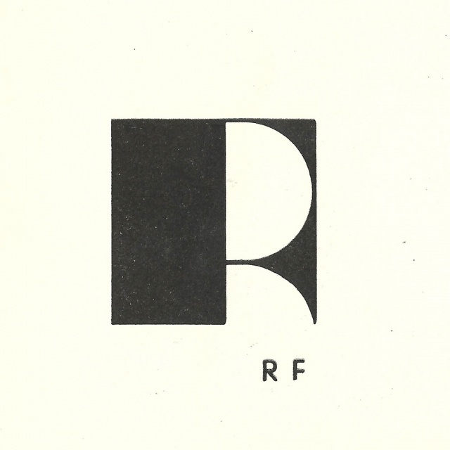 R F   Typographic monogram