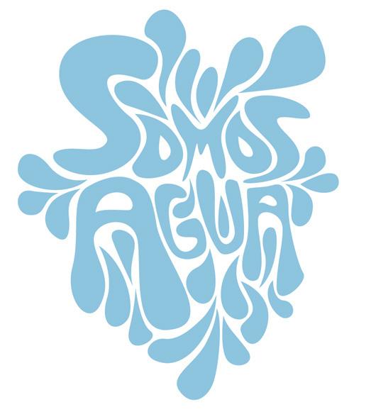 Somos Agua - type #water #agua #eco #blue #drops