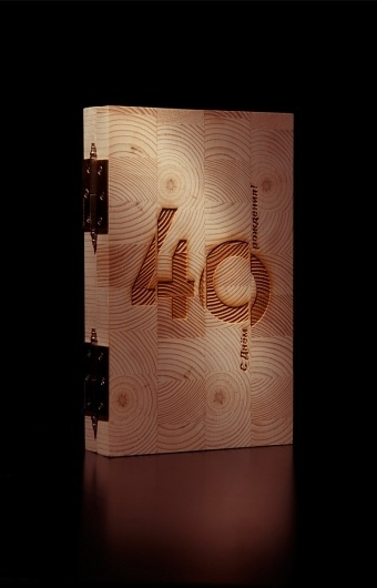 40 on the Behance Network #packaging #wood #texture #typography