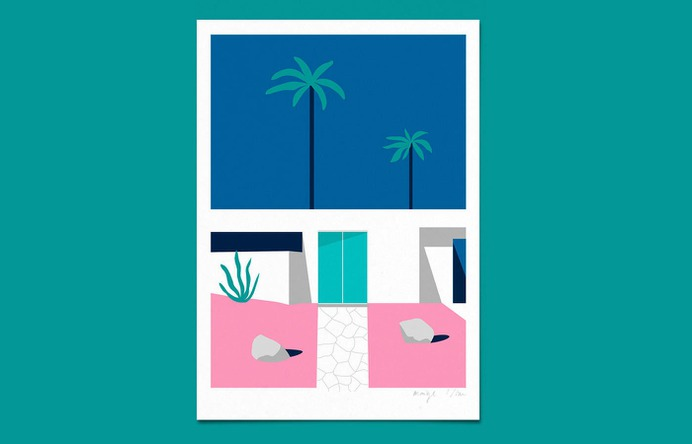 palm springs on Behance