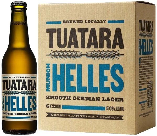 Tuatara Helles #beer #bottle #label #packaging