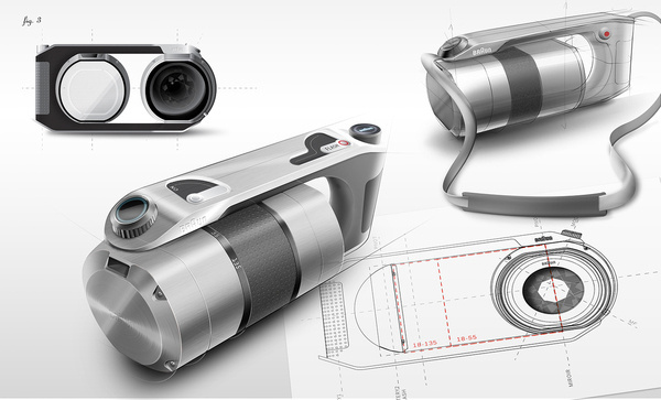 Amazing Braun Camera Industrial Design by Pierre Francoz - Braun Pivo