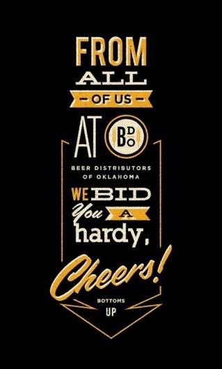 The Beer Distributors of Oklahoma #beer #black #poster #typography