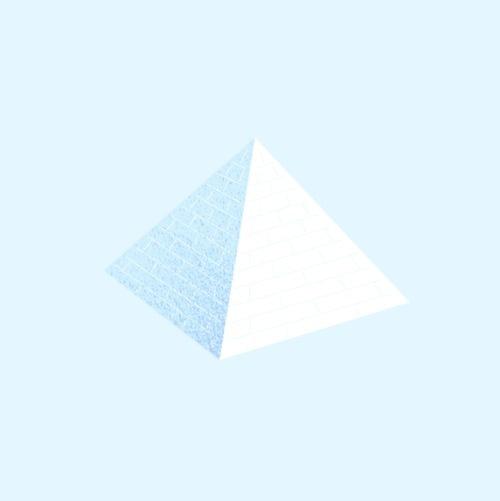 Hello! #greg #christman #illsutration #pyramid #blue