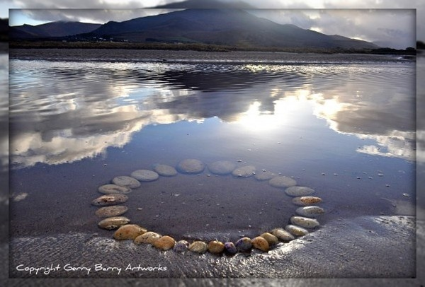 Land and water art instalation by Gerry Barry #land #landscape #photography #art #eco #tone #beach