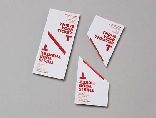 New Theatre on Rotation - Brand New #new #theatre #ticket #typography