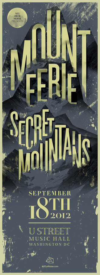 Secret Mountains #music #posters #typography