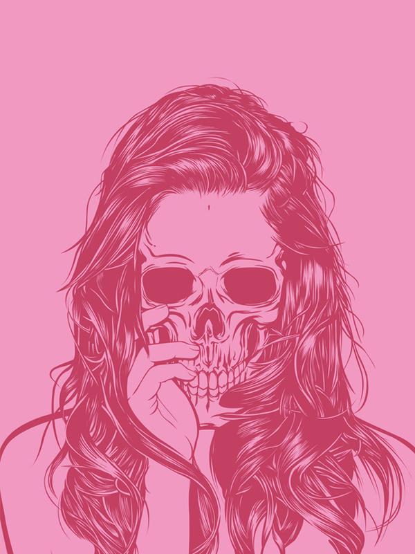Skull Girls (pt.1) on Behance #skull #girls