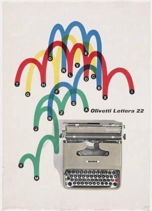 MoMA | The Collection | Giovanni Pintori. Olivetti Lettera 22. 1953 #giovanni #olivetti #advertisement #lithograph #1953 #pintori