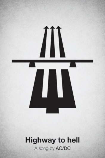 Pictogram Music Posters by Viktor Hertz | inspirationfeed.com #music #acdc #pictogram #poster