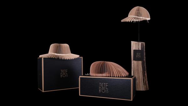 tete de bois design wooden headwear by andrea deppieri #product