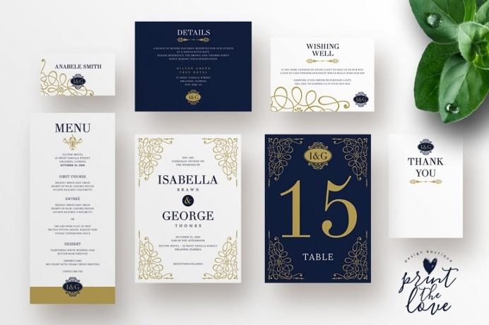 Wedding Invitation Suite – Isabella