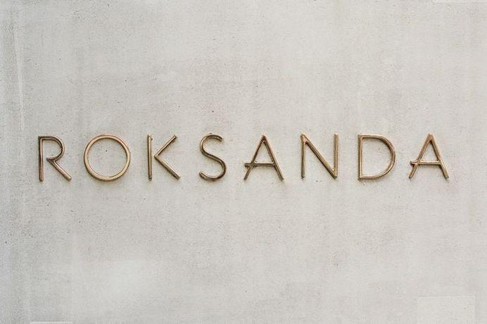 Roksanda Gold Signage on Concrete #logo #lettering #gold