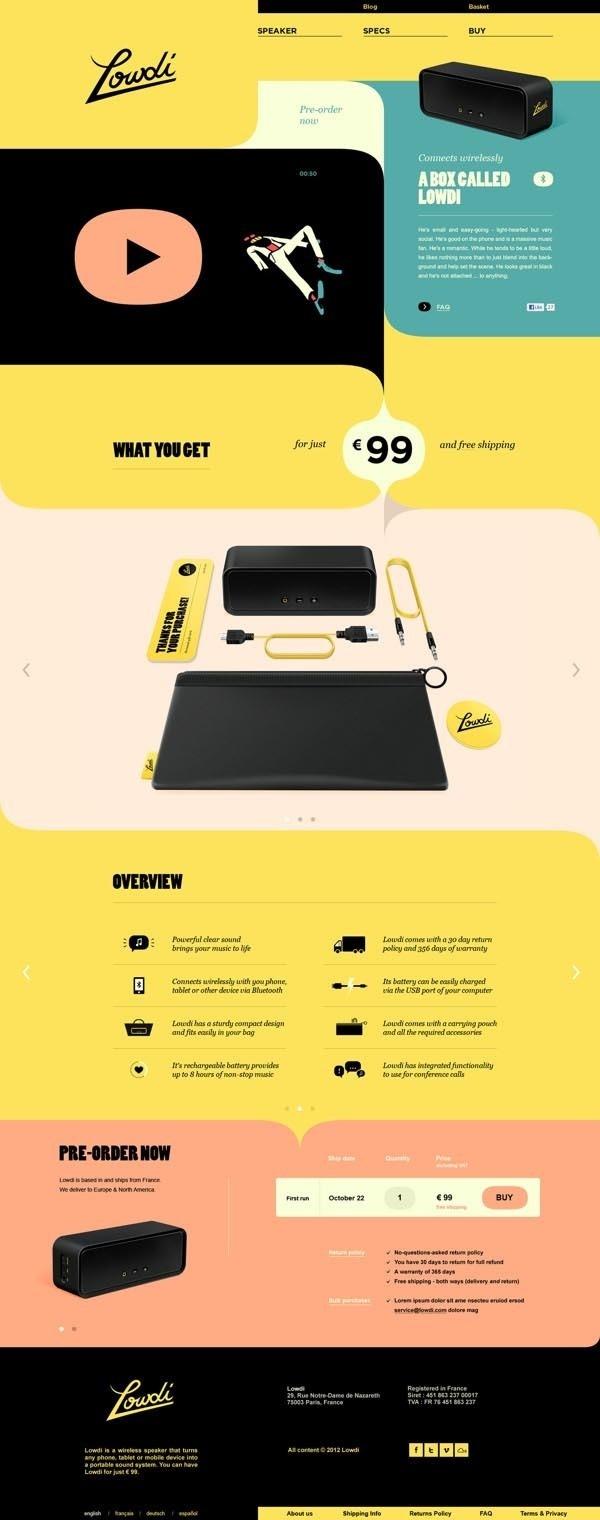A Box Called Lowdi Web Design by Momkai #music