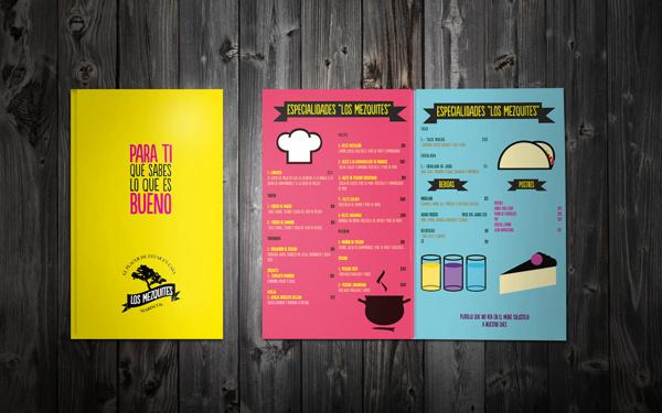 LOS MEZQUITES on Behance #menu