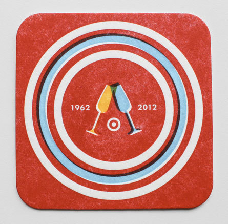 Allan Peters Target via www.mr cup.com #type #design #letterpress #coasters
