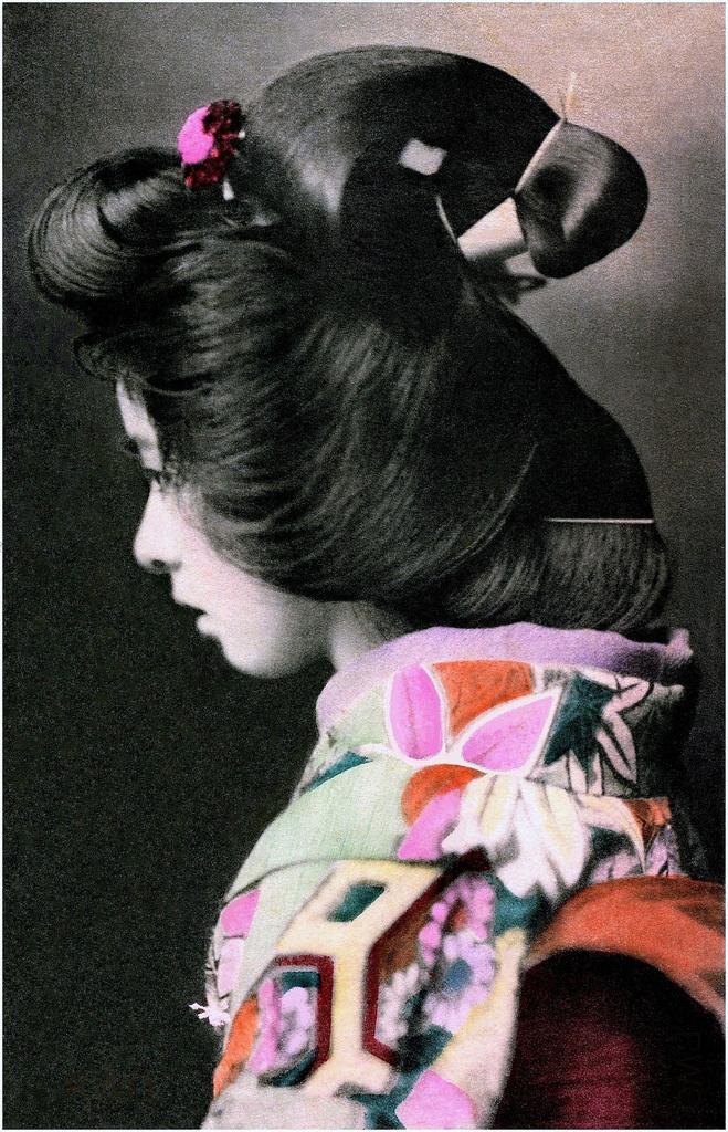 A PRETTY PROFILE FROM OLD JAPAN | Flickr - Photo Sharing! #vintage #photography #japan #geisha #hair #beauty #profile #girl #woman #kimono #