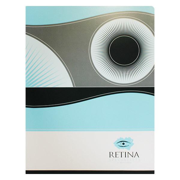Retina Ophthalmologist Presentation Folder #folders #design #presentation #eyeball #eye #retina #circle #folder
