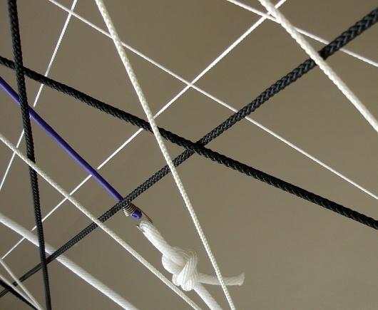 DEUTSCHE & JAPANER - Creative Studio - kiosk opening #lines #rope #graphic #installation