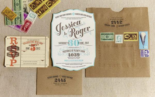 flourish letterpress #wedding #invite #letterpress #typography
