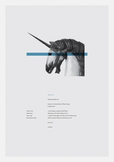 Daniel Gray - Shop #movie #horse #blade #runner #poster #typography