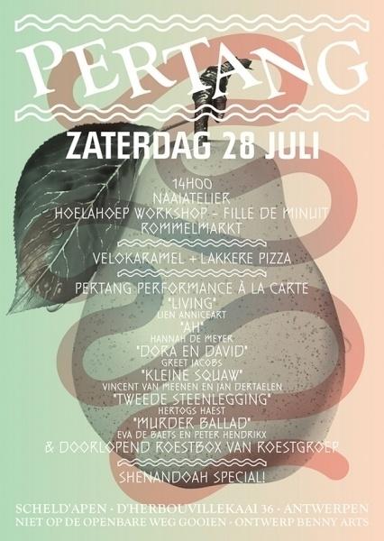 Pertang - Benny Arts #antwerp #flyer #fruit #benny #arts #pertang