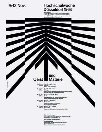 Walter Breker — Mind and Matter, Highschool Week (1964) #walter #breker #design #poster