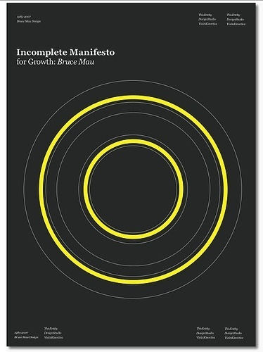 Incomplete Manifesto for Growth | Flickr - Photo Sharing! #circle #bruce #poster #mau