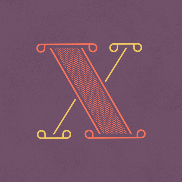 x - Heymikel #typographie #type #letters #lettering #heymikel #illustration