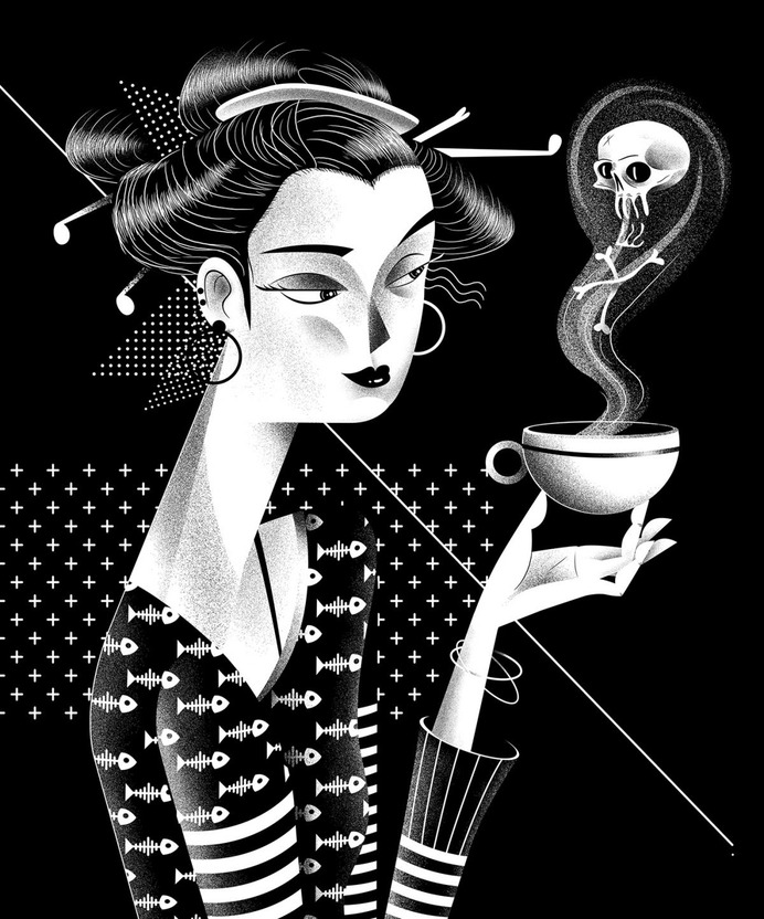 Voodoo Spells – Black & White Illustrations