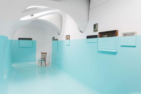 'Antivegetativa' by Davide D'Elia | PICDIT #design #art #paint #blue #painting