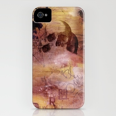 Skull iPhone Case by The Babybirds | Society6 #case #iphone #design #geek