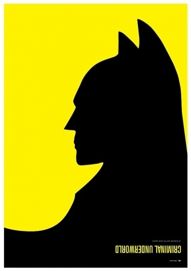 Batman vs. Penguin – Hero & Villain Poster Series by Simon C Page #comics #batman