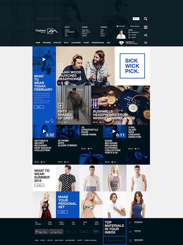 Fashion Magazine Concept on Behance #uiux #design #interface #concept #fashion #web