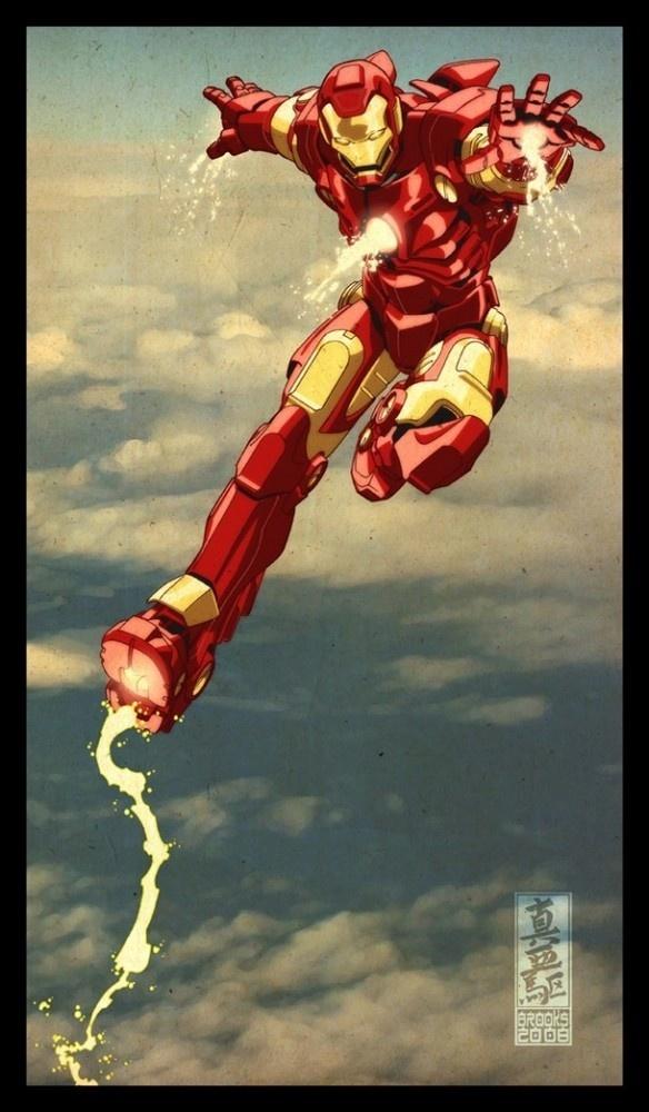 Mark Brooks - Iron Man comics art #mark #stark #iron #illustration #marvel #man #comics #brooks