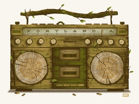 DKNG Studios » Posters #radio #brown #poster