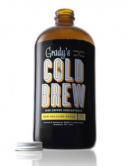 lovely-package-gradys-cold-brew1.jpg 777×1,000 pixels #packaging #coffee #typography