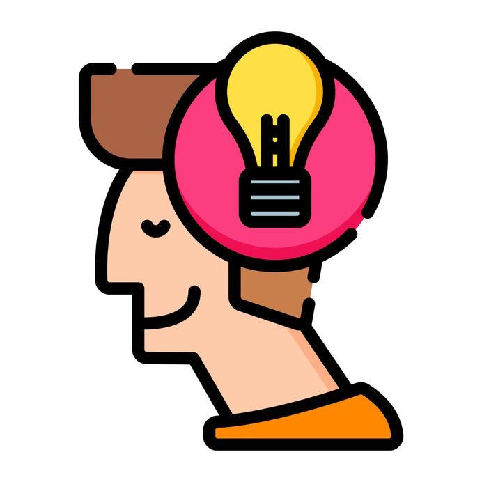 See more icon inspiration related to idea, account, head, lightbulb, bulb, person, designer, creativity, creative, user, avatar and happy on Flaticon.