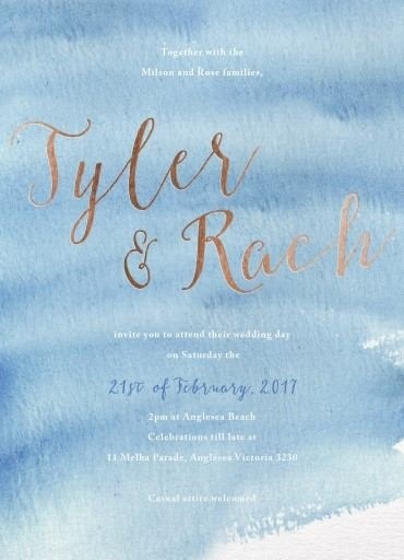 Beach - Wedding Invitations #paperlust #weddinginvitation #weddinginspiration #invitation #cards #design #paper #print #foilstamp