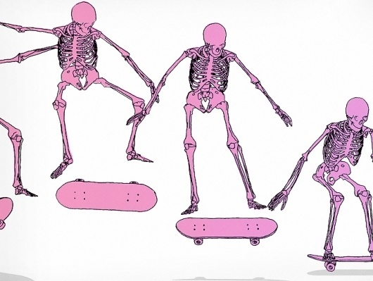 Snowblinded™ - Kickflip Screen Print #skeleton #kickflip #print #colorado #screen #skate #art #skateboard #snowblinded